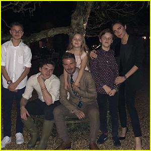 David Beckham & Family Celebrate Victoria Beckham on Mother's Day!