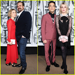 David Harbour & Girlfriend Alison Sudol Couple Up at Miu Miu Paris Fashion Show!