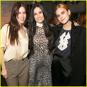 Demi Moore Gets Support from Daughters Scout & Tallulah at Visionary Women's Honor Celebration!