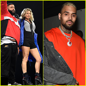 DJ Khaled Welcomes Fergie, Chris Brown, & More as Guests During L.A. Tour Stop