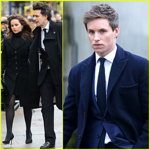 'Theory of Everything' Stars Eddie Redmayne & Felicity Jones Attend Stephen Hawking's Funeral