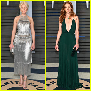 Elizabeth Banks & Michelle Monaghan Get All Dolled Up for Oscars 2018 After Party!