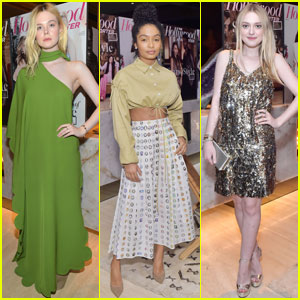 Dakota & Elle Fanning Celebrate Stylists With Yara Shahidi at 'THR' Power Stylists Dinner