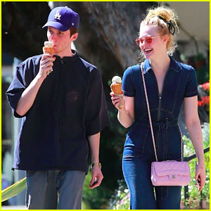 Elle Fanning is All Smiles for Ice Cream Date With Male Friend