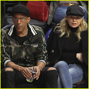 Ellen Pompeo & Husband Chris Ivery Sit Courtside at Clippers Game