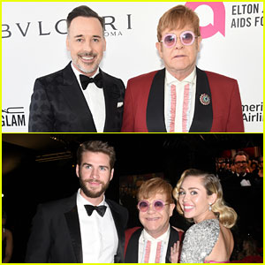 Elton John & Husband David Furnish Mingle With Lots of Famous Faces at Elton's Oscars Party!