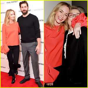 Emily Blunt & Meryl Streep Reunite to Support Stanley Tucci at His Movie Screening!
