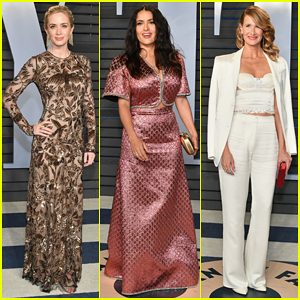 Emily Blunt, Salma Hayek & Laura Dern Switch It Up at Vanity Fair Oscars Party 2018!