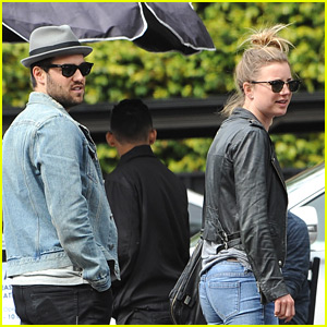 Emily VanCamp & Josh Bowman Couple Up for Lunch in Los Feliz