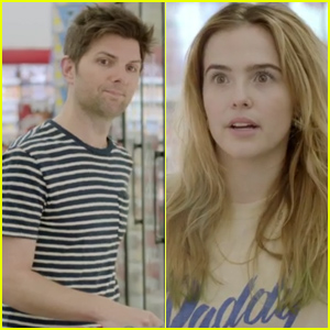 Adam Scott & Zoey Deutch Have an Awkward Supermarket Encounter in 'Flower' - Watch a Clip From the Movie! (Exclusive)