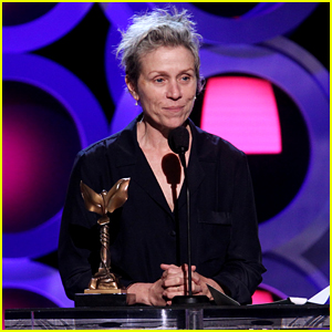 Frances McDormand Wears Pajamas & Slippers to Accept Her Spirit Award!