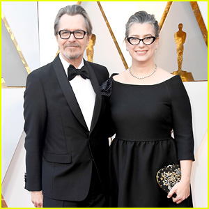 Nominee Gary Oldman & Wife Gisele Schmidt Hit the Red Carpet at Oscars 2018