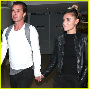 Gavin Rossdale & Girlfriend Sophia Thomalla Touch Down at LAX
