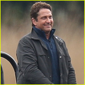 Gerard Butler Films 'Angel Has Fallen' on a Lake in London