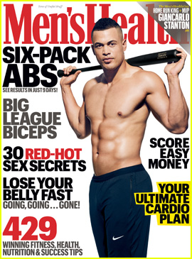 MLB's Giancarlo Stanton Shows Off His Hot Shirtless Abs for 'Men's Health'!