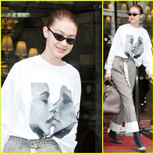 Gigi Hadid Looks Chic Heading to the Airport in France