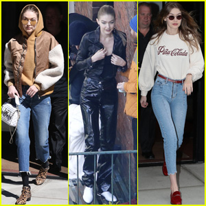 Gigi Hadid Looks Fashionable While Heading to a Photo Shoot in NYC!