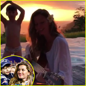 Gisele Bundchen Gets Photobombed by Son Benjamin While Playing the Guitar - Watch the Funny Video!