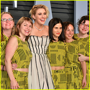 Greta Gerwig's Friends Join Her at Oscars After Party in Matching Outfits!