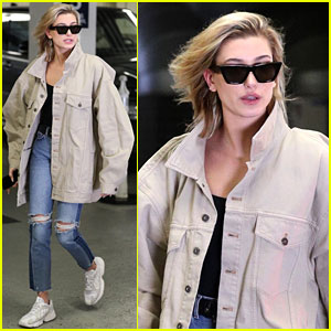 Hailey Baldwin Shows Off Her Post-Oscars Street Style in Oversized Jacket