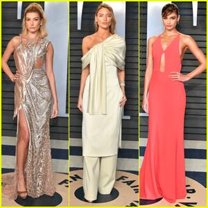 Hailey Baldwin, Taylor Hill & Martha Hunt Dazzle at Vanity Fair's Oscar Party 2018