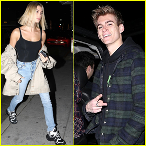 Hailey Baldwin & Presley Gerber Attend Madison Beer's 19th Birthday Dinner!