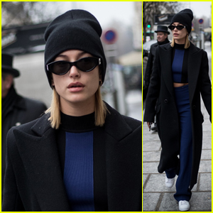 Hailey Baldwin Heads Out on the Town During Paris Fashion Week 2018