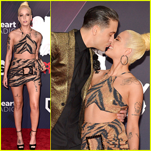 G-Eazy Kisses Girlfriend Halsey on iHeartRadio Music Awards 2018 Red Carpet!