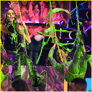Heidi Klum & Mel B Get Slimed at Kids' Choice Awards 2018!