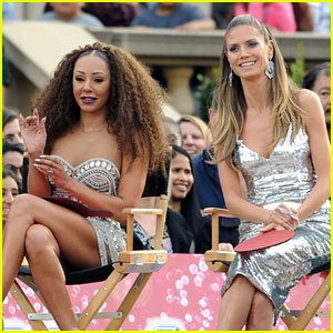 Heidi Klum & Mel B Watch an Outdoors Audition for 'America's Got Talent'