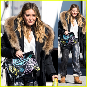 Hilary Duff Looks Fashionable While Filming 'Younger' in New York City