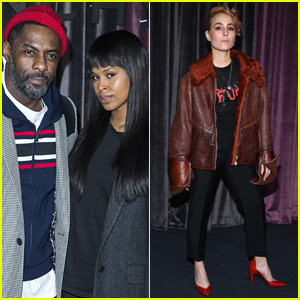 Idris Elba & Fiancee Sabrina Dhowre Sit Front Row at Givenchy Show