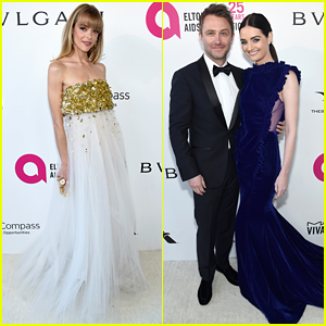 Jaime King & Lydia Hearst Glam Up for Elton John's Oscars Party