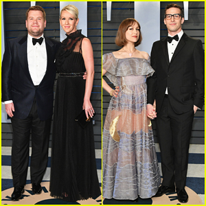 James Corden & Andy Samberg Bring Spouses To Vanity Fair's Oscar Party 2018!