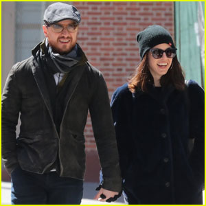 James McAvoy Couples Up With Girlfriend Lisa Liberati For Afternoon Stroll
