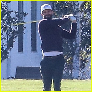 Jamie Dornan Gets in a Morning Round of Golf