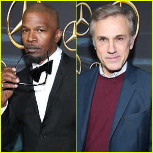 Former Oscar Winners Jamie Foxx & Christoph Waltz Attend Mercedes-Benz's Viewing Party