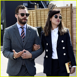 Jamie Dornan & Wife Amelia Warner Attend Cheltenham 2018 Gold Cup Day