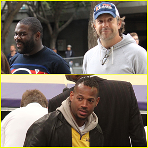 Jason Sudeikis & Sam Richardson Buddy Up at the Lakers Game!