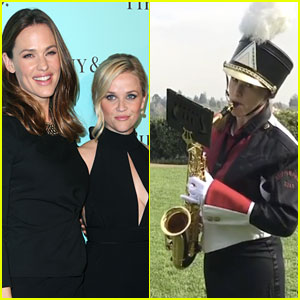 Jennifer Garner Plays 'Happy Birthday' on the Saxophone for Reese Witherspoon (Video)