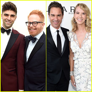 Jesse Tyler Ferguson & Eric McCormack Bring Their Spouses to Elton John's Oscars Party