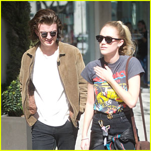 Joe Keery & Girlfriend Maika Monroe Go Shopping in Beverly Hills