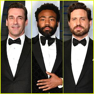 Jon Hamm, Donald Glover, & Edgar Ramirez Suit Up for Vanity Fair's Oscars Party