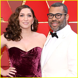 Get Out's Jordan Peele & Wife Chelsea Peretti Arrive to Oscars 2018!