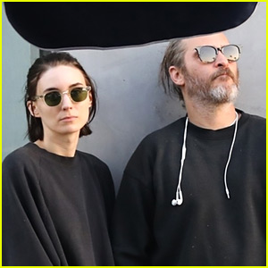 Rooney Mara & Joaquin Phoenix Keep a Low Profile at Lunch