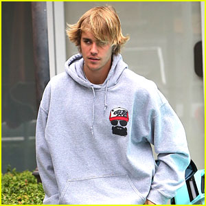Justin Bieber Wears Bright Green Pants For Lunch Run