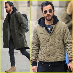 Justin Theroux Heads to Paris Following Jennifer Aniston Split
