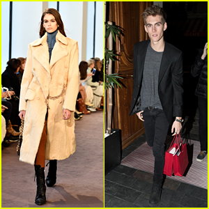 Kaia & Presley Gerber Look Fashionable During Paris Fashion Week 2018