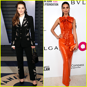 Kaitlyn Dever & Angela Sarafyan Rock Cool Fashion at Oscars Parties
