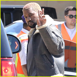 Kanye West Flashes Peace Sign After Attending March For Our Lives